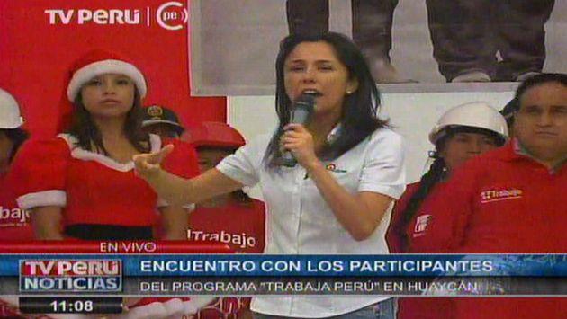 Nadine Heredia y su férrea defensa del régimen laboral juvenil