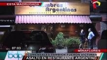 Asalto, Restaurante, Atraco, Costumbres Argentina