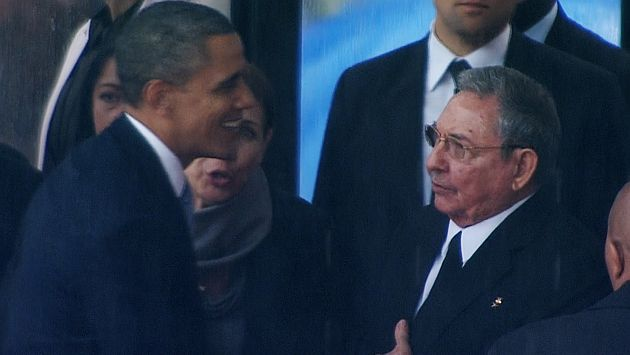 Raúl Castro y Barack Obama. (Reuters)