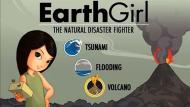 Videojuego 'Niña Tierra 2' enseña cómo actuar durante un tsunami. (Kerlow.com)