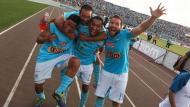 Sporting Cristal celebra la obtención de su decimoséptimo título nacional. (Cortesía: El Comercio)