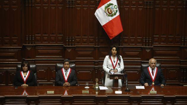 Oídos sordos. Solórzano no se pronuncia hasta ahora sobre la 'ley Pulpín' pese a reclamo de bancadas. (Rafael Cornejo)