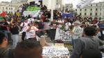 #LeyPulpín: Tercera marcha culminó con agresiones a la prensa - Noticias de martin pauca