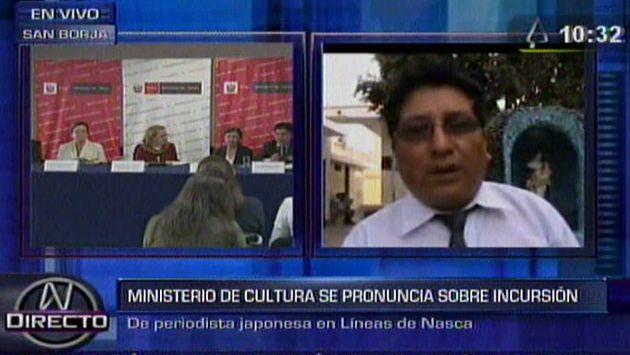 También pedirán la detención de argentino Mauro Fernández, quien promovió incursión de Greenpeace a las Líneas de Nasca. (Canal N)