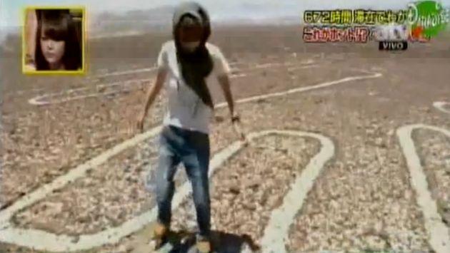 Ministerio de Cultura solo otorgó permiso a reportera japonesa para un sobrevuelo. (Captura de video)