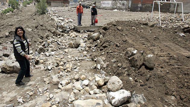 Caída de huaico afecto a 50 casas en Cañete. Unas 20 familias lo perdieron todo. (USI/Referencial)