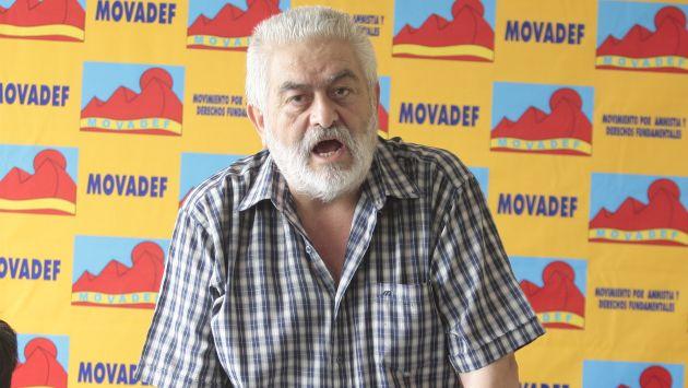 Manuel Fajardo habló como representante del Movadef en la presentación de la coalición de partidos. (Perú21)
