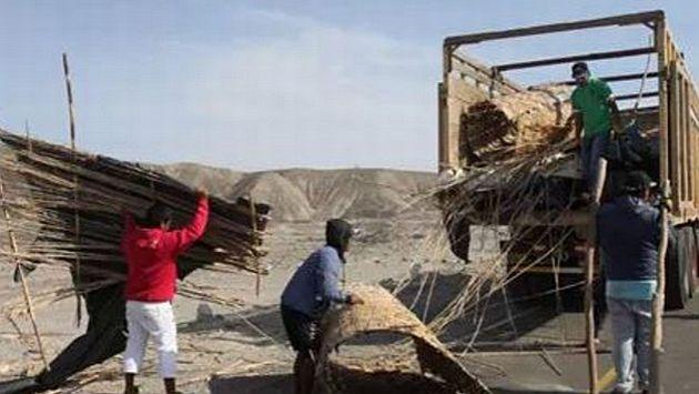 Desalojaron a 400 familias por invadir zona arqueológica de Nasca, Ica. (Andina)