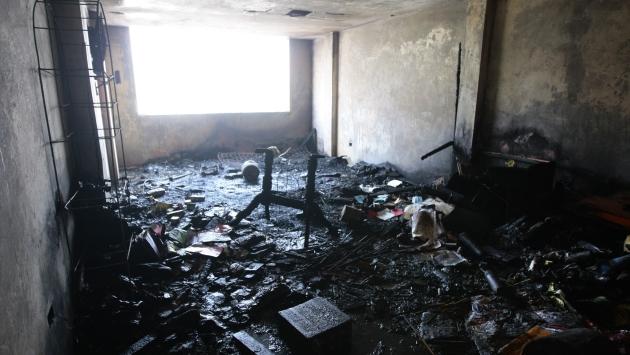 Incendio ocasionado por material pirotécnico mató a tres personas. (USI/Referencial)