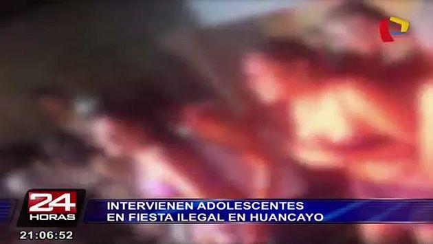 Más de 200 menores fueron intervenidos en Huancayo en una 'fiesta condón', una nueva y peligrosa moda entre los adolescentes. (Captura de TV)