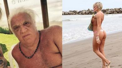 Alfio 'Coco' Basile vive un amor otoñal con vedette 42 años menor que él