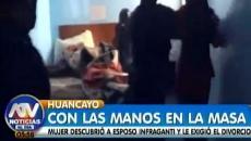 Mujer ampayó a su esposo con su amante en un hotel