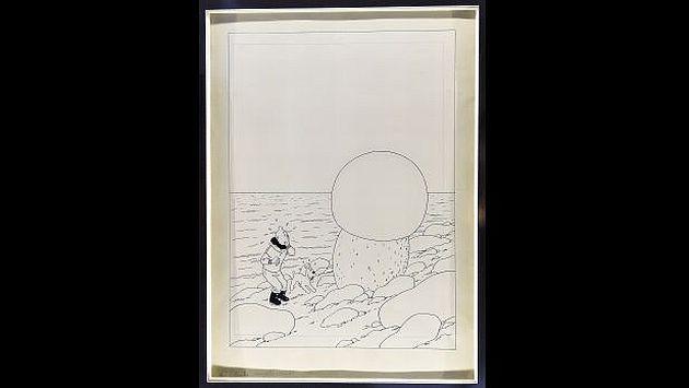 El décimo tomo de Tintín fue publicado en 1942. (AFP)