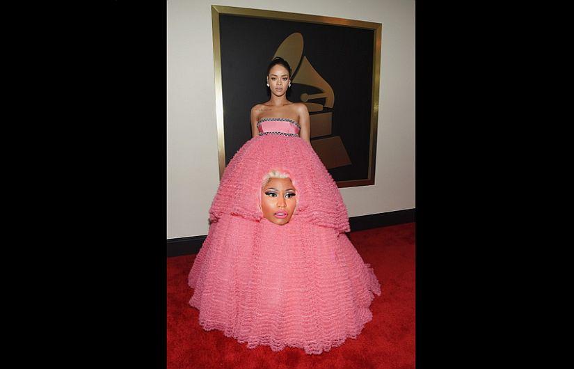 ... vestido rosa que lució en los Grammy [Fotos] | Foto 1 de 7 | Peru21