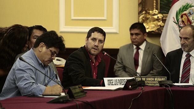 Jorge Paredes Terry entregó pruebas contra Todo Graph a Comisión de Fiscalización. (Roberto Cáceres)