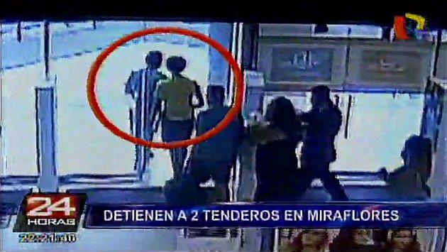 Miraflores caen tenderos que usaban im n para bloquear - Tenderos de ropa ...
