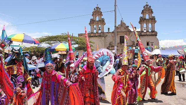 Más de 10 mil turistas llegaron para disfrutar del carnaval de Cajamarca. (USI)