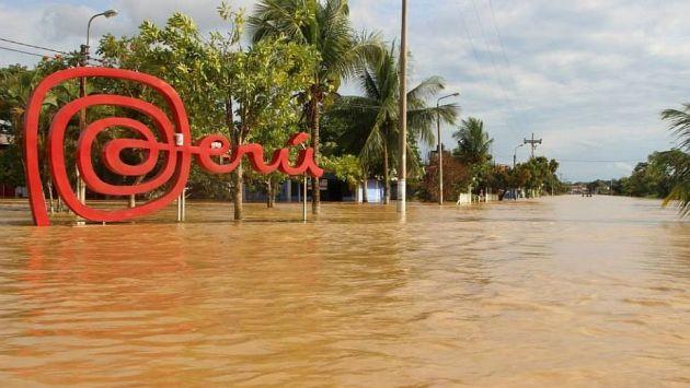 Panorama desolador en Iñapari por las inundaciones. (Facebook Deyvi Mestanza Isuiza)
