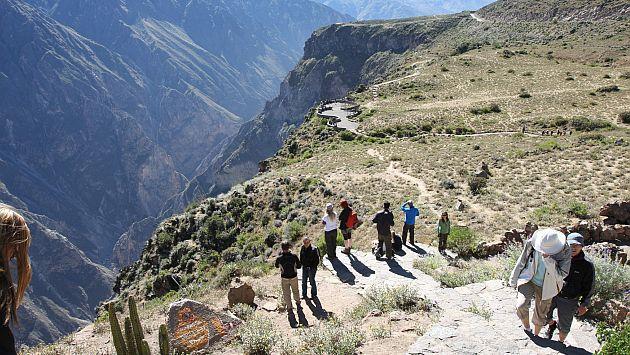 Acceso al Valle del Colca en riesgo por intensas lluvias en Arequipa. (Heiner Aparicio)