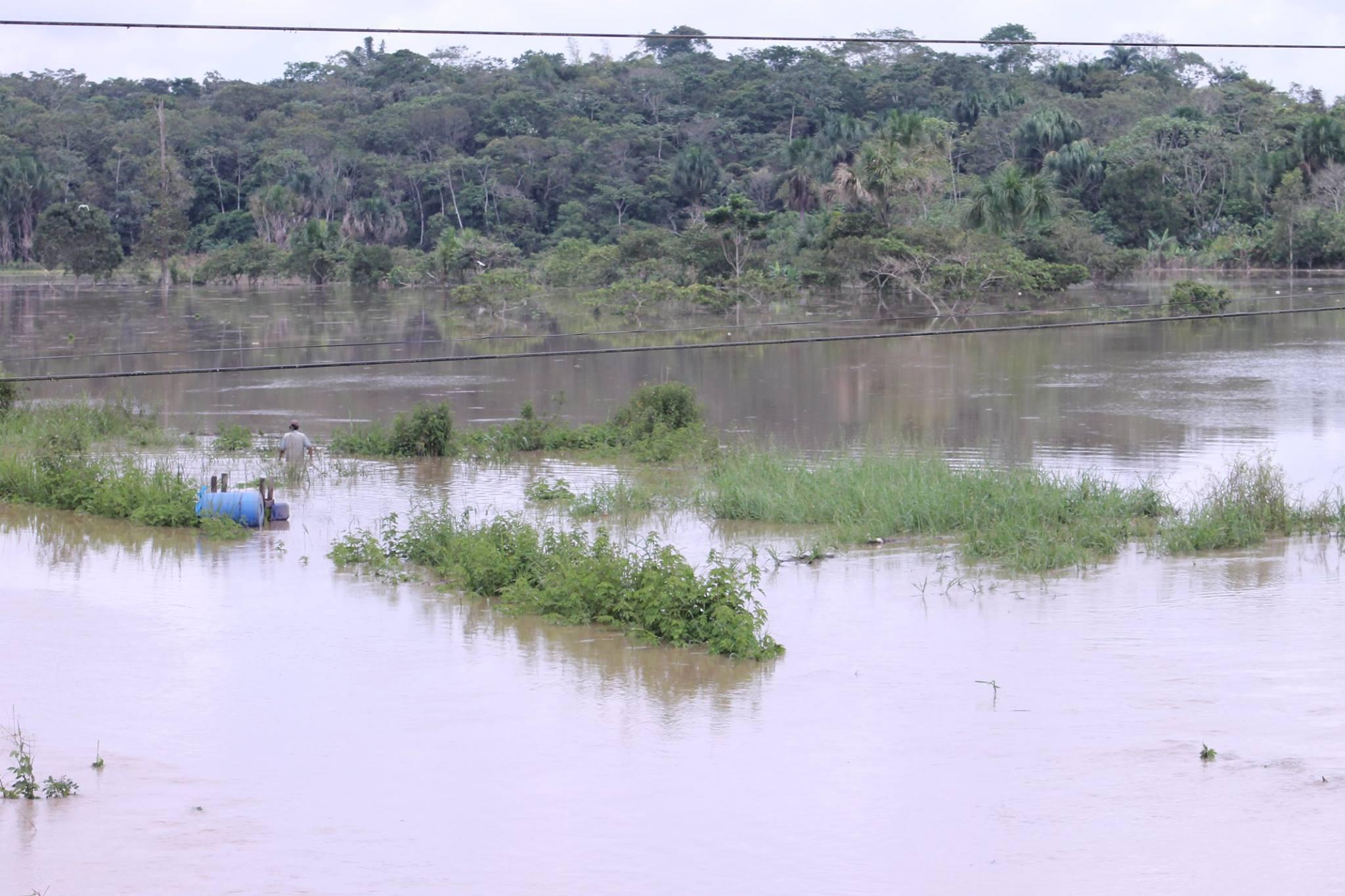 Desborde del rio generó grandes pérdidas materiales. (Richard Ramos/Perú21)