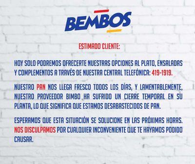 Bembos anuncia que sí venderá hamburguesas con pan pese a cierre de Bimbo
