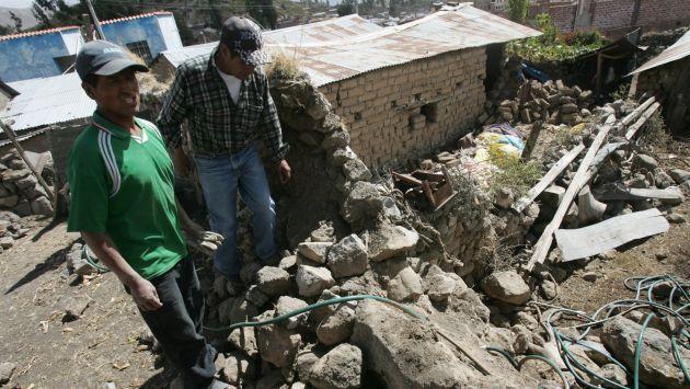 Vecinos recordaron sismo del año 2013. (Heiner Aparicio)