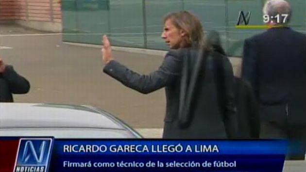 Ricardo Gareca llegó a Lima para firmar contrato con la FPF