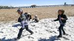 Estados Unidos: Granizada cubrió de blanco Huntington Beach - Noticias de