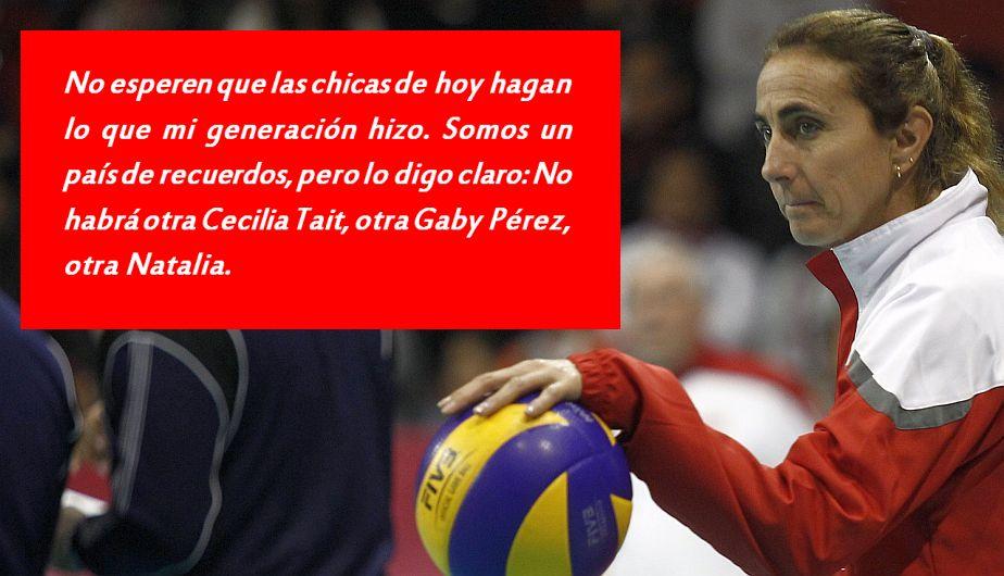 Natalia Málaga y su opinión sobre futuros mejores días en el vóley peruano. (Perú21)