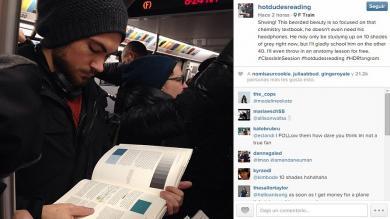 Instagram, Hot dudes reading