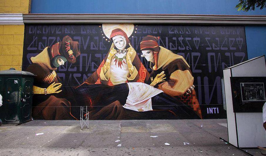 1. Mural hecho por Inti / Lugar: Jr. Cuzco cuadra 4. (Municipalidad de Lima)