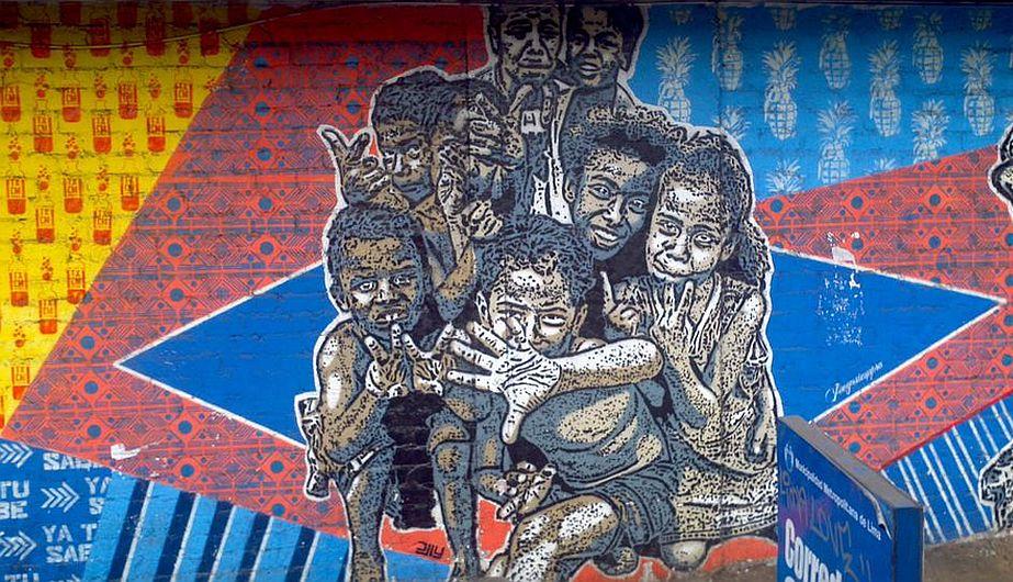 Mural ubicado en la Av. Garcilaso de la Vega. (@petterhg)