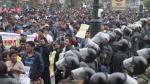 Apurímac: Protesta contra la empresa Electro Sur Este dejó 18 heridos - Noticias de choque de buses