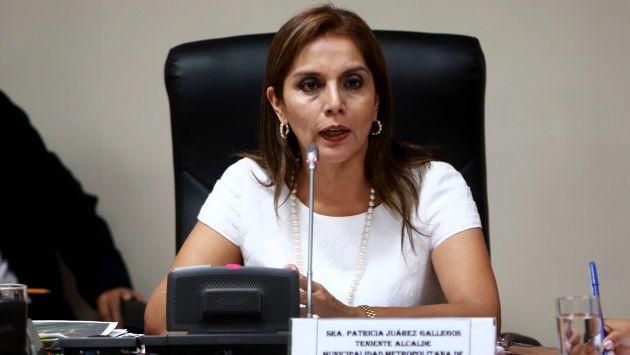 Patricia Juárez cuestionó a Susana Villarán por promover Río Verde. (Difusión)