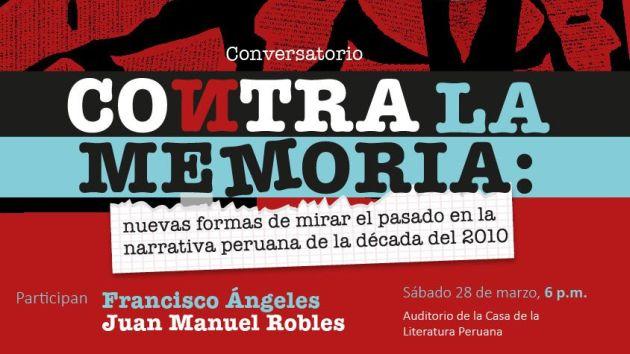 El ingreso al conversatorio es libre. (Casa de la Literatura Peruana)