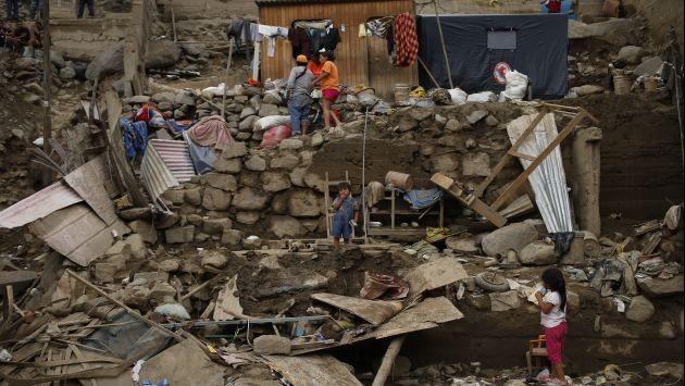Residentes de Chosica viven aterrados ante la posibilidad de más huaicos. (César Fajardo)
