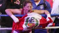 Linda Lecca sigue siendo campeona mundial supermosca de la AMB. (Perú21)