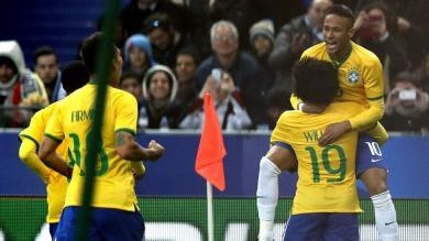 Brasil superó 3-1 a Francia de la mano de Neymar