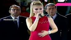 Claudia Serpa es criticada tras cantar el Himno Nacional