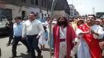 Semana Santa: 'Cristo Cholo' escenificó el bautismo de Jesús en el río Rímac - Noticias de iglesia bautista