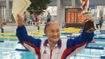 Japón: Mujer de 100 años de edad bate récord de natación - Noticias de mundial de atletismo