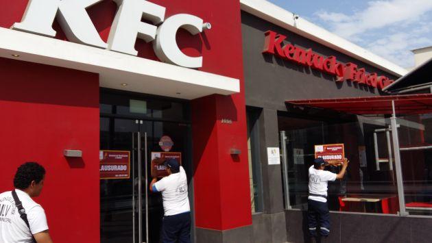Municipalidad de La Victoria clausuró local de KFC por infracción a las norma sanitarias. (Difusión)