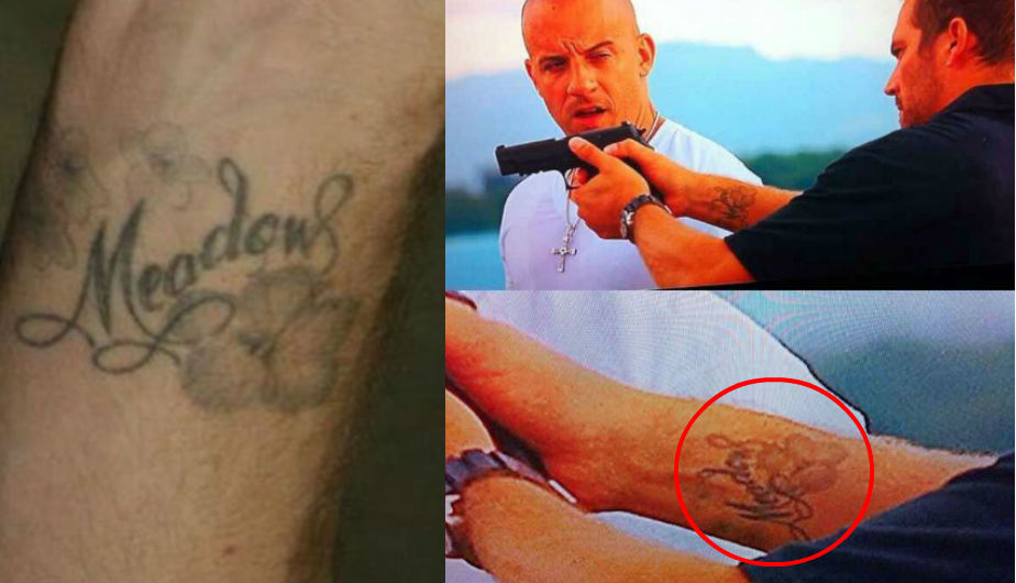 26 memorable tattoos from big hollywood movies for Fast and furious tattoo