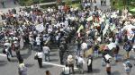 Tía María: Antimineros se enfrentaron a la Policía en Plaza de Armas de Arequipa - Noticias de detenidos