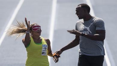 Usain Bolt corrió como guía de la atleta ciega más rápida del mundo