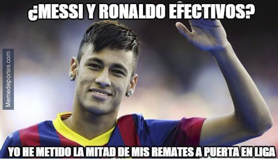 Neymar anotó uno de los goles. (Memedeportes.com)