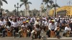 Lima: Más de 2 mil cajoneros homenajean a Rafael Santa Cruz en busca de récord