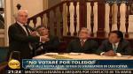 Alejandro Toledo: Javier Valle Riestra le dijo en su cara que no votará por él - Noticias de alan garcía