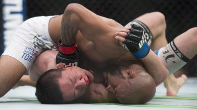 UFC 186: Demetrious Johnson retuvo el título mosca con nuevo récord [Fotos]