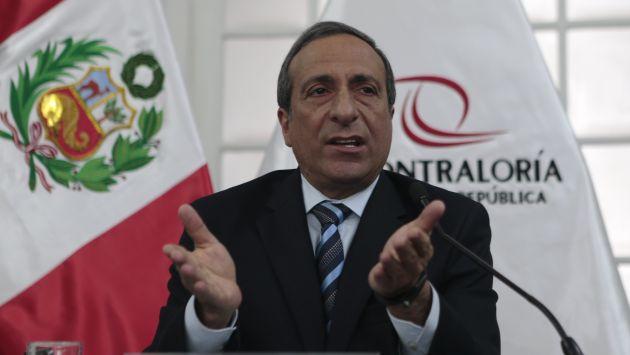 Contralor Fuad Khoury dijo que su institución evalúa contrato firmado con empresa de Gerald Oropeza. (Perú21)